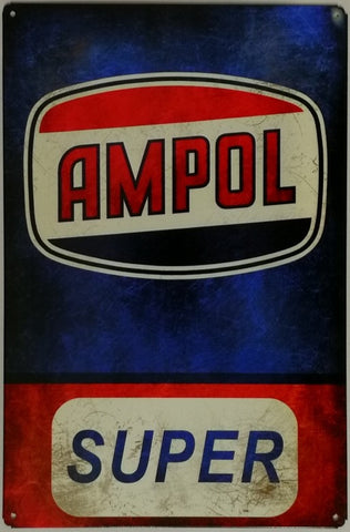 Tin Sign -  AMPOL SUPER