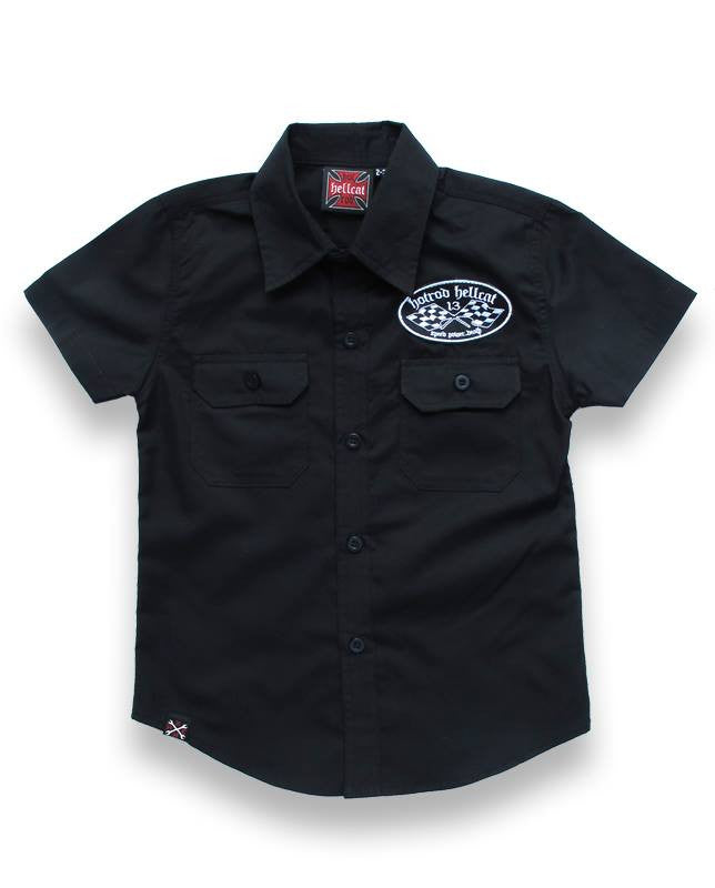 Kids Button Up S/s Shirt SpeedShop|PoisonkandyklothingAustralia