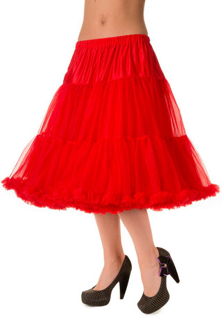 "Banned Clothing - Petticoats Long 26"" Lifeforms Red"