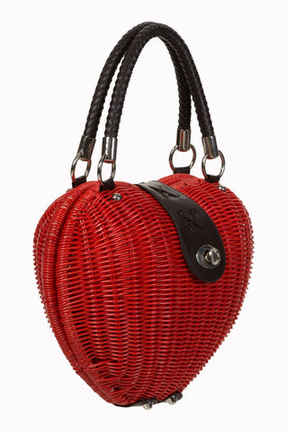Banned Clothing-Ladies Handbag Nikki Red|Poisonkandyklothing