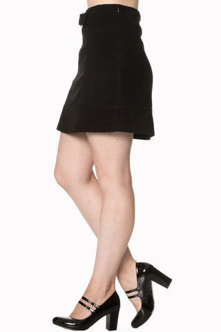 Banned Clothing - Dare to Wear buckle Skirt Black