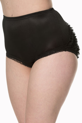 Banned Clothing - Ladies Frilly Knickers Black