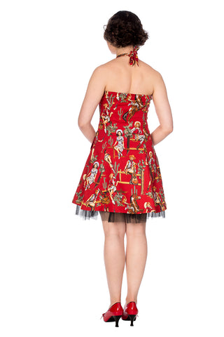 Banned - Cowgirl Halter Flare Dress|Poisonkandyklothing
