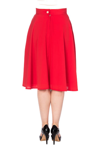 Banned - Cute As A Button Skirt Red|Poisonkandyklothing