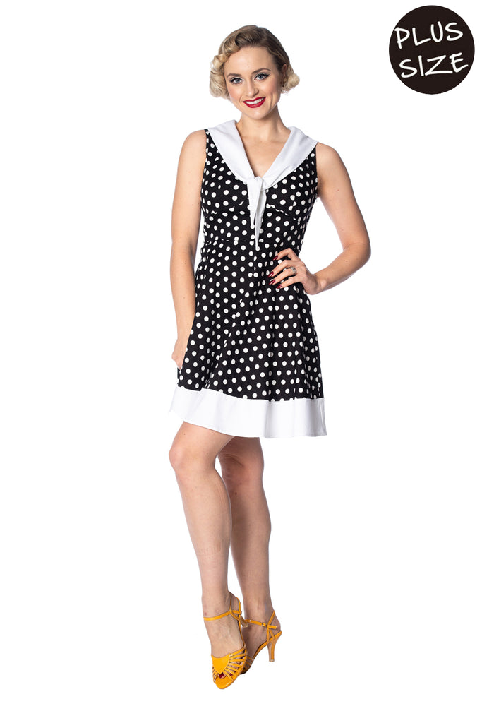 Banned - Polka Love Cute Dress Plus Size|Poisonkandyklothing