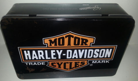 Flat Tin Container - Harley Davidson  Trade Mark