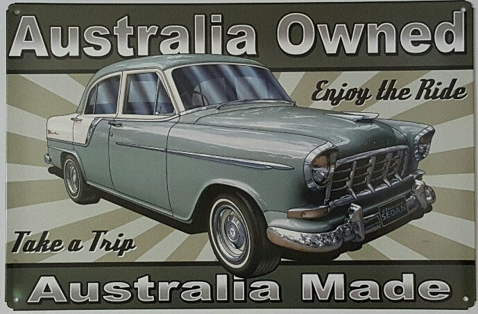 Tin Sign - FC Holden Australian Made