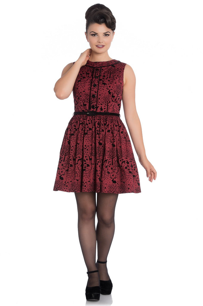 Hell Bunny - Sherwood Mini Dress Red|Poisonkandyklothing