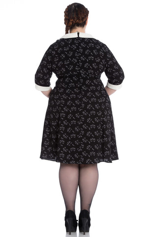 Hell Bunny Ladies Matou Mini Dress Plus Size|Poisonkandyklothing