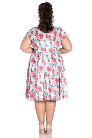 Hell Bunny Suzannah Dress Mint Plus Size