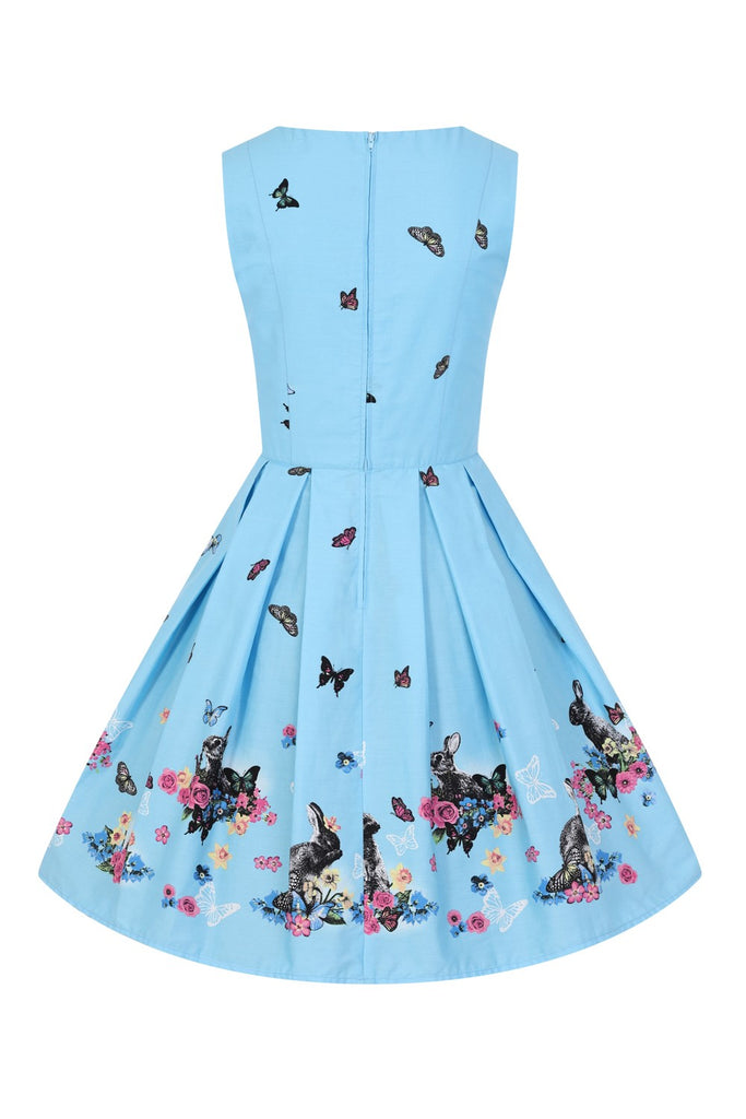 Hell Bunny Cotton Tail Mid Dress|Poisonkandyklothing