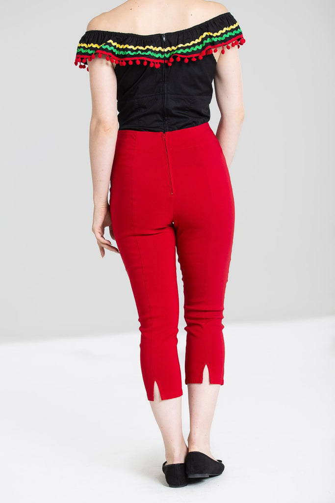 Hell Bunny - Tina Capri Red Plus size