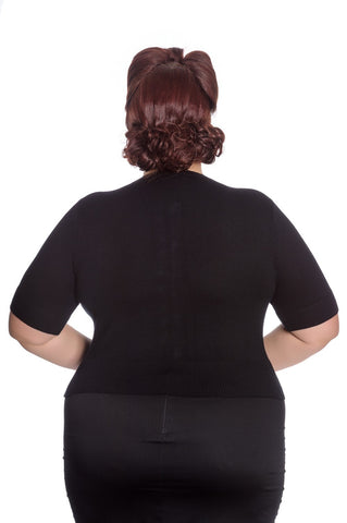 Hell Bunny - Wendi Cardigan Black Plus Size|Poisonkandyklothing