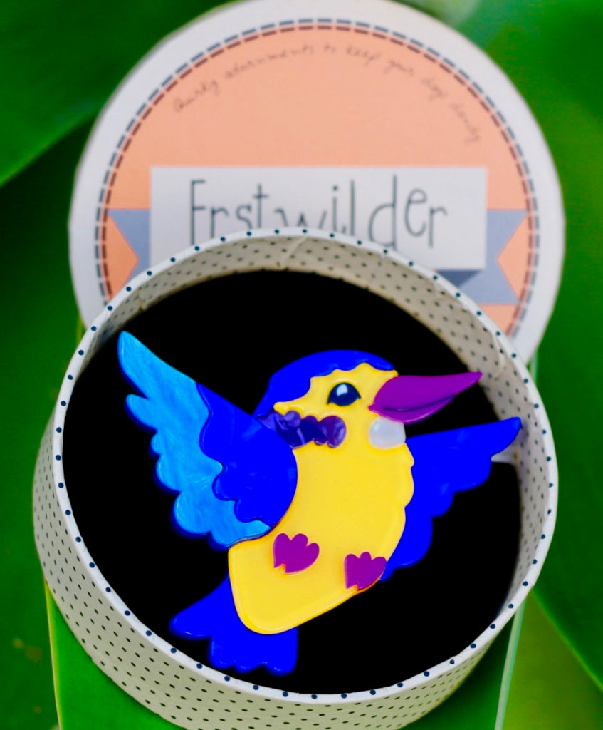 Erstwilder - Khary of the Kalahary Kingfisher Brooch|Poisonkandyklothing