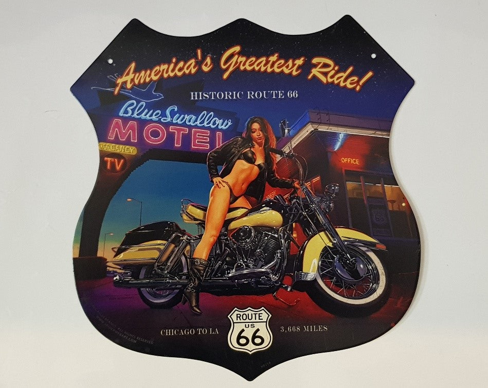 Tin Sign - ROUTE 66 America's Greatest Ride