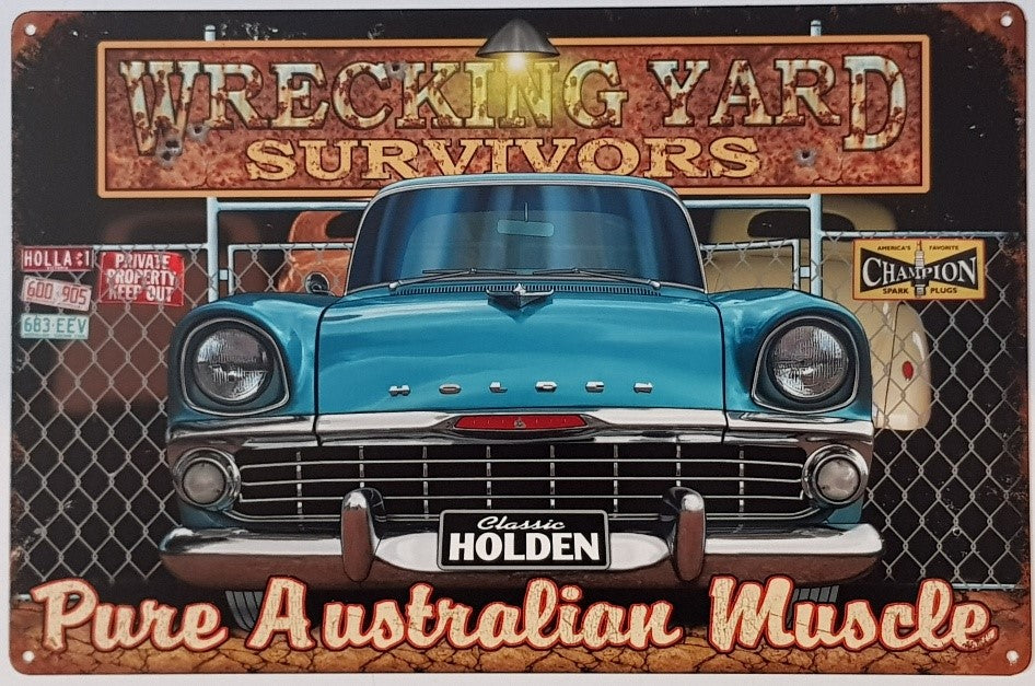 Tin Sign -  EK Holden Wrecking Yard Survivor