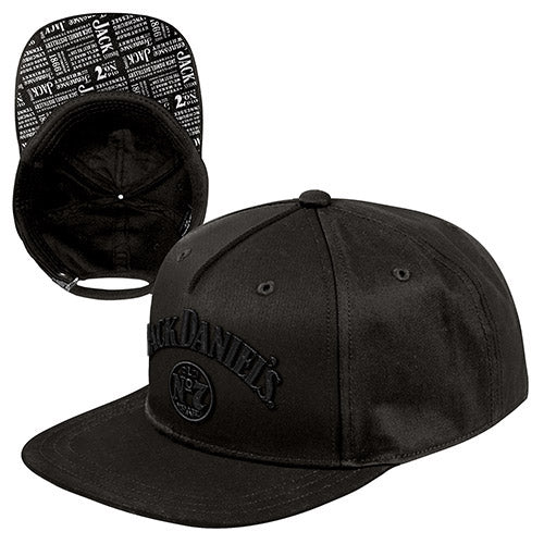 Headwear - Jack Daniels Adjustable Flat peak Cap