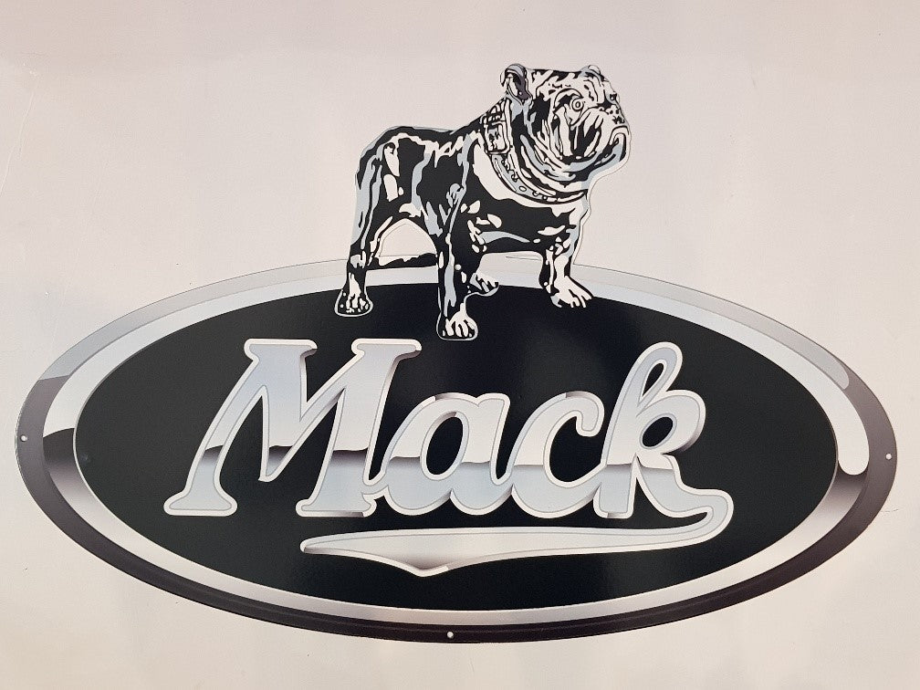 Tin Sign - Mack Bull Dog New