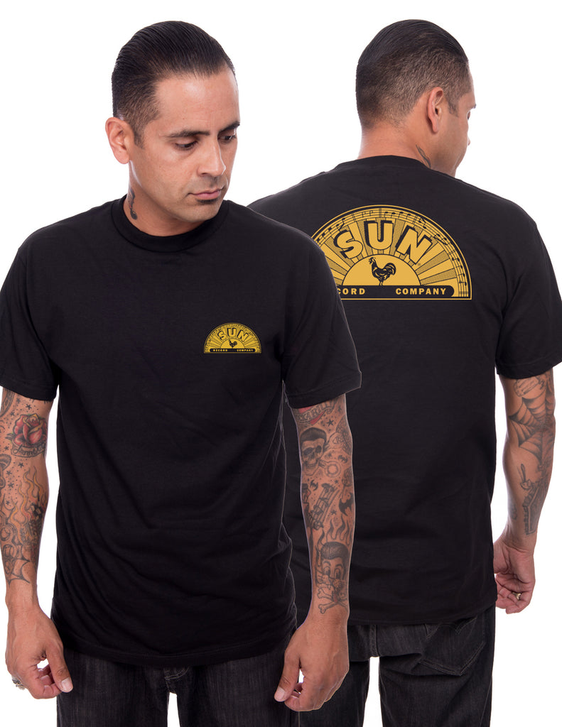 Steady Clothing Sun records Shop Mens Tee Black