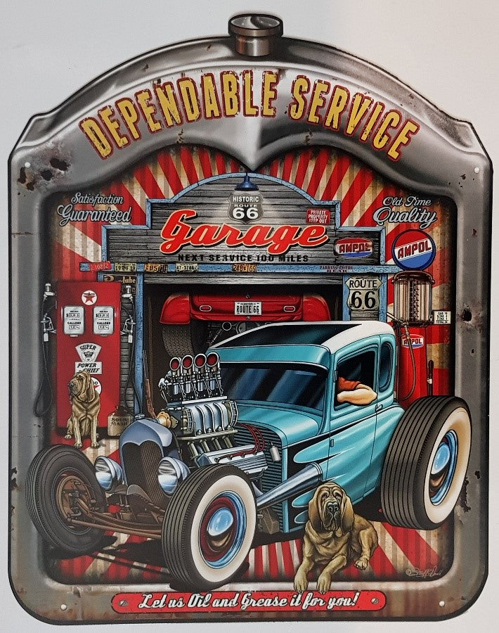 Tin Sign -  Dependable Service Radiator Surround