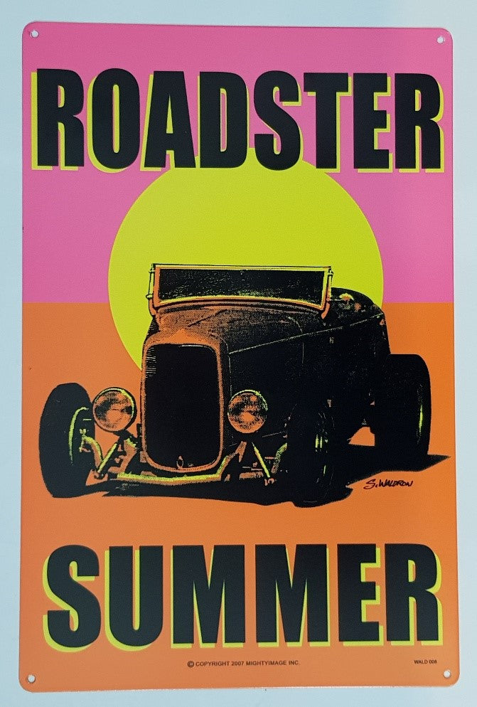 Tin Sign - Roadster Summer
