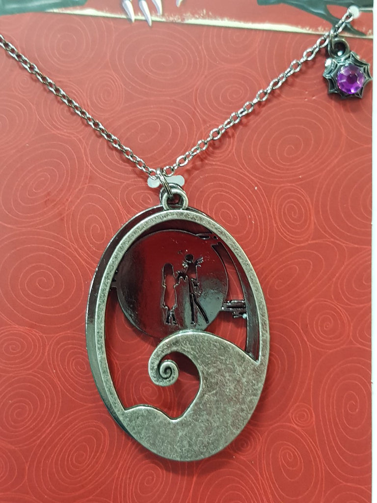Nightmare Before Christmas Necklace - Moon Scene