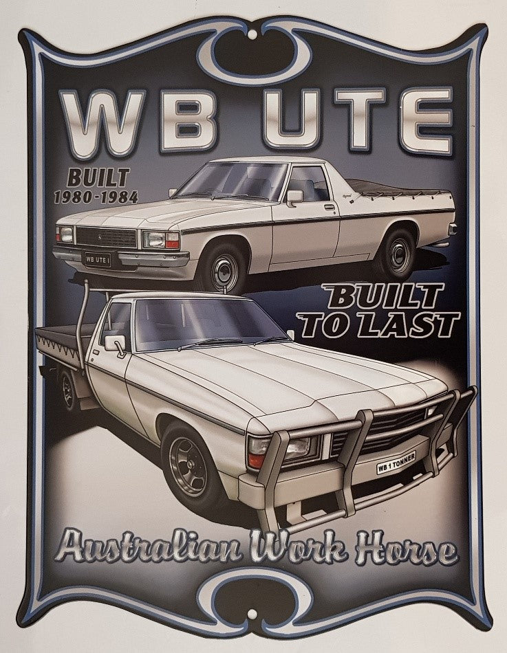 Tin Sign - WB UTE/TONNER   Western Shield