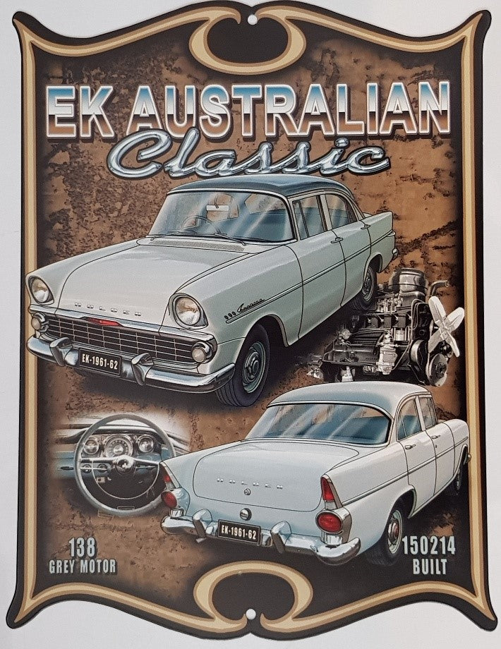 Tin Sign - EK Holden   Western Shield