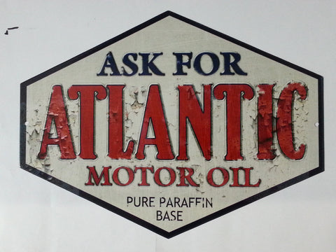 Atlantic Motor Oil Tin Sign