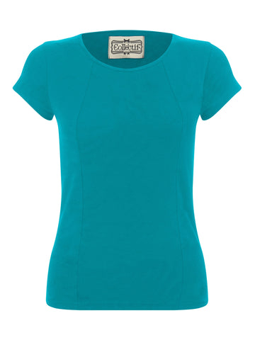 Collectif Alice Plain T-Shirt Teal