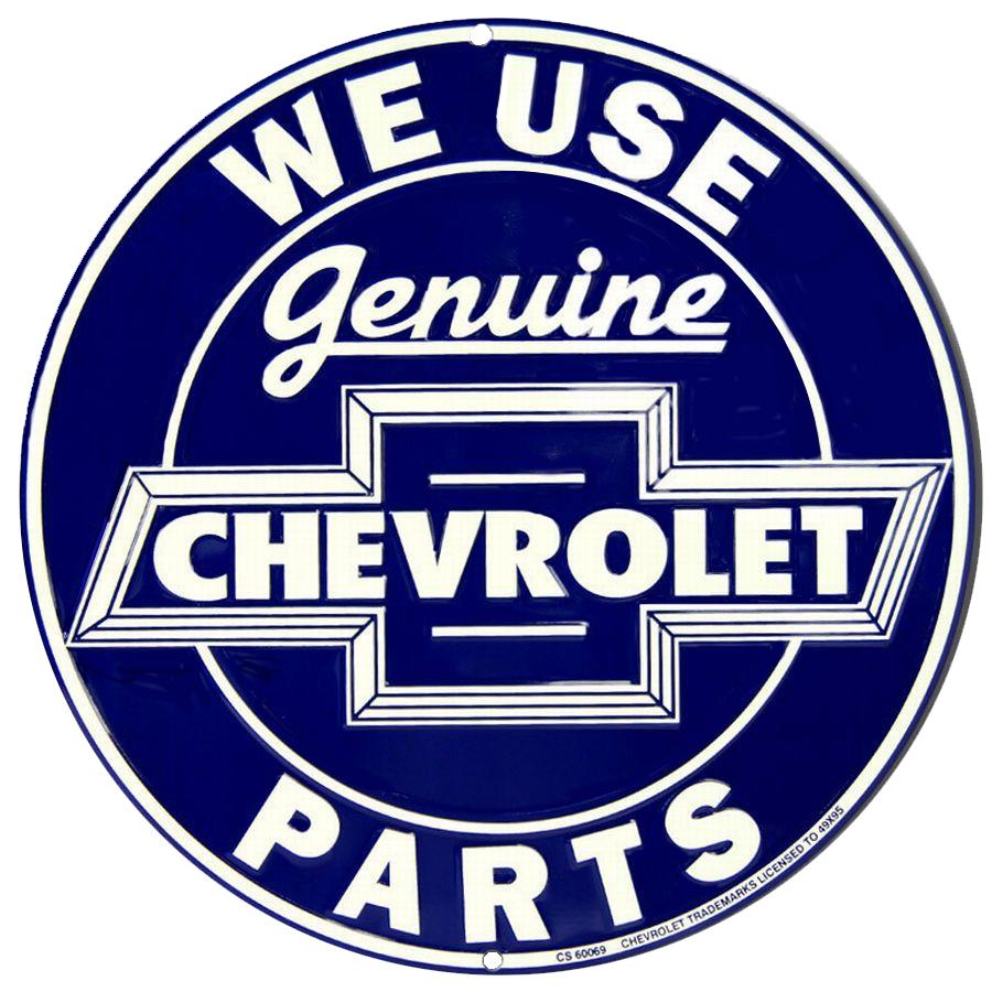 Tin Sign Embossed - Chevy Geninue Parts