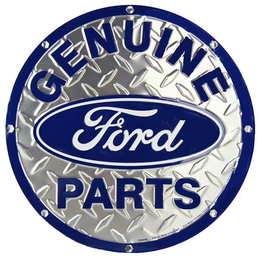 Tin Sign Embossed - Ford -  Geninue Parts