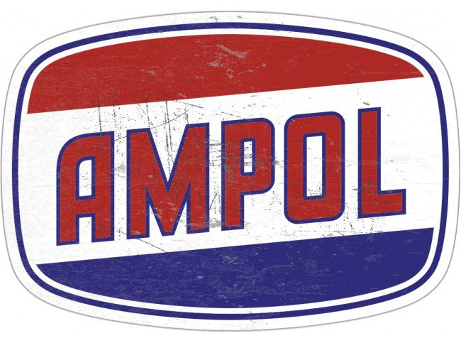 Tin Sign Ampol 81 x 57 Distressed