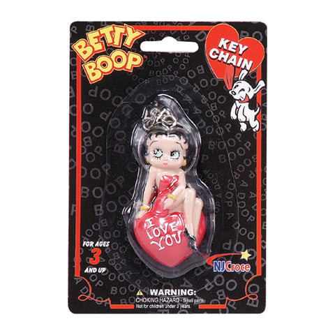 Key Ring - Betty Boop I Love You 3-D Keychain
