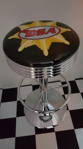 BSA Motorcycle Bar Stool Poison Kandy Klothing Australia