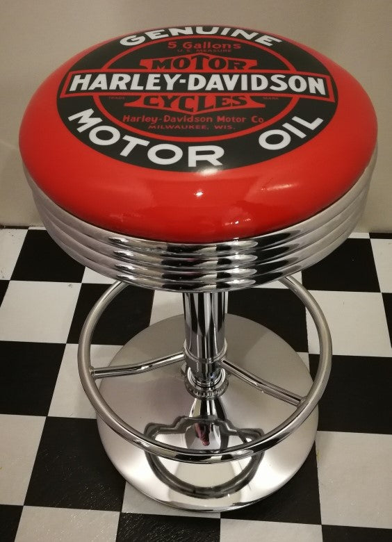Bar Stool - Harley Davidson Motorcycle Oil