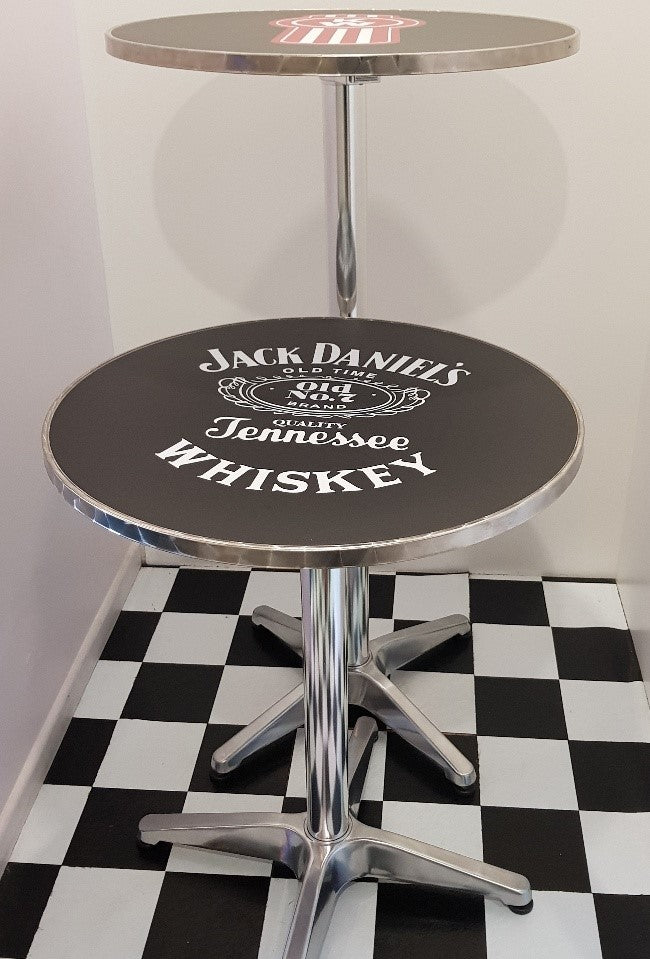 Bar Table - Harley Davidson Round Top New Design