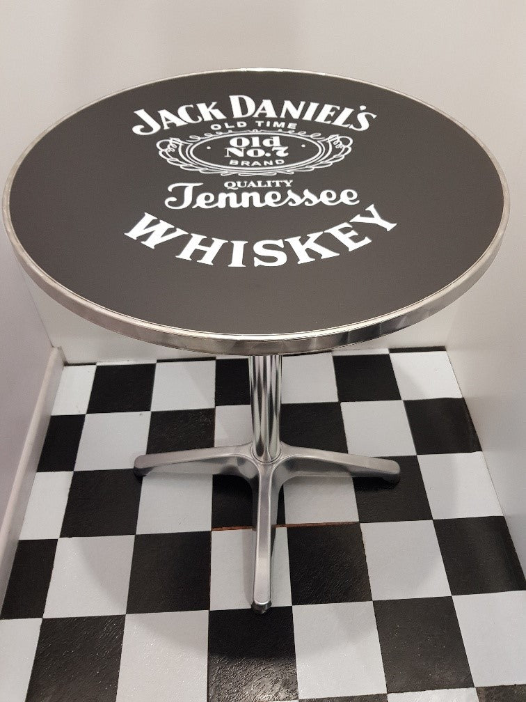 Bar Table - Jack Daniels  Round Top New Design