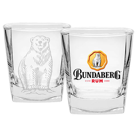 Bar Item - Bundaberg Rum Bear Set Of 2 Spirit Glasses