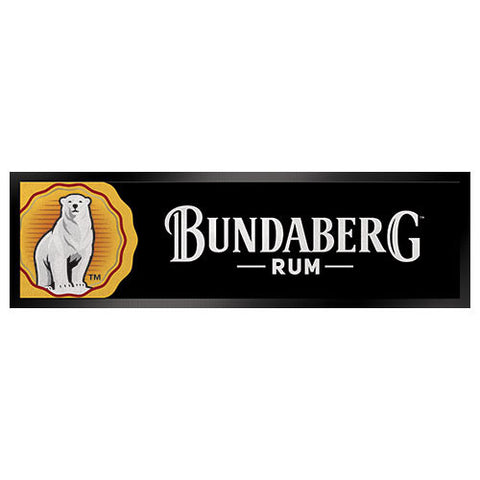 Bar Runner - Bundaberg Rum  Waterproof rubber back