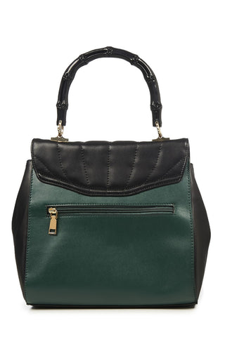 Banned Clothing - Bamboo Lux Handbag Green/Blk|Poisonkandyklothing