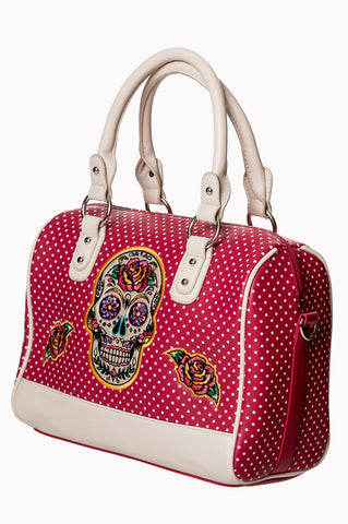 Banned Clothing - Dia De Muertos Bag Magenta|Poisonkandyklothing