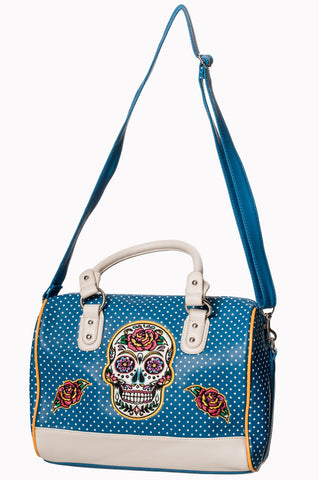 Banned Clothing - Dia De Muertos Bag Teal|Poisonkandyklothing