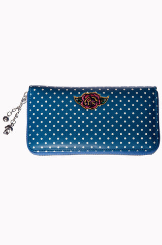 Banned Clothing - Dia De Muertos Wallet Teal|Poisonkandyklothing