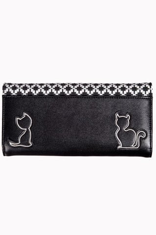 Banned Clothing Godiva Wallet Black/White|Poisonkandyklothing