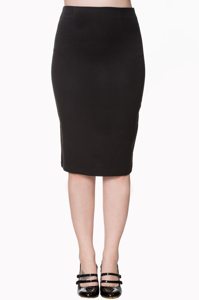 Banned Paula Black Pencil Skirt|Poisonkandyklothing