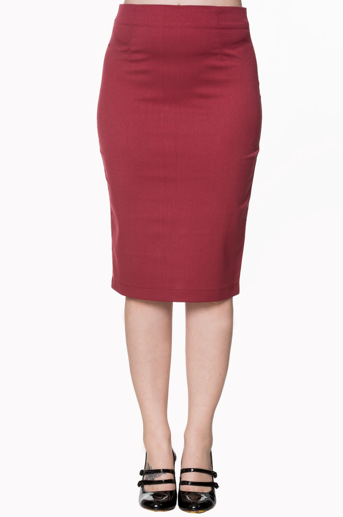 Banned Paula Red Pencil Skirt|Poisonkandyklothing