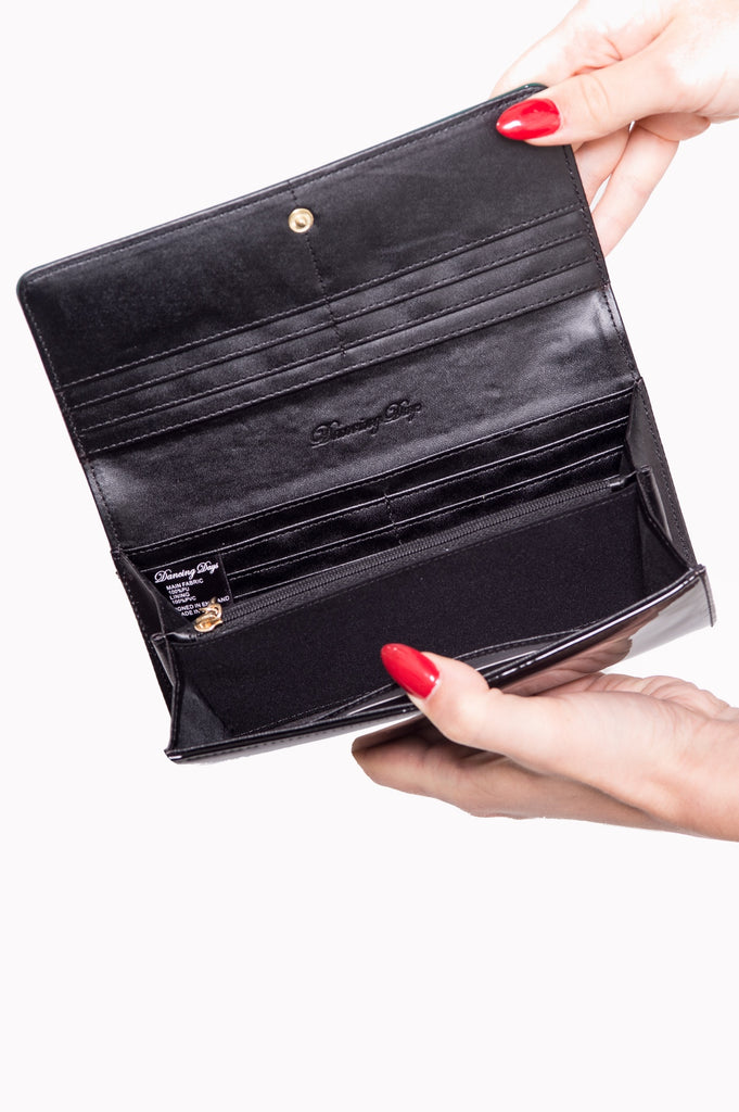 Banned Clothing Rosemary's Wallet Red/Blk|Poisonkandyklothing