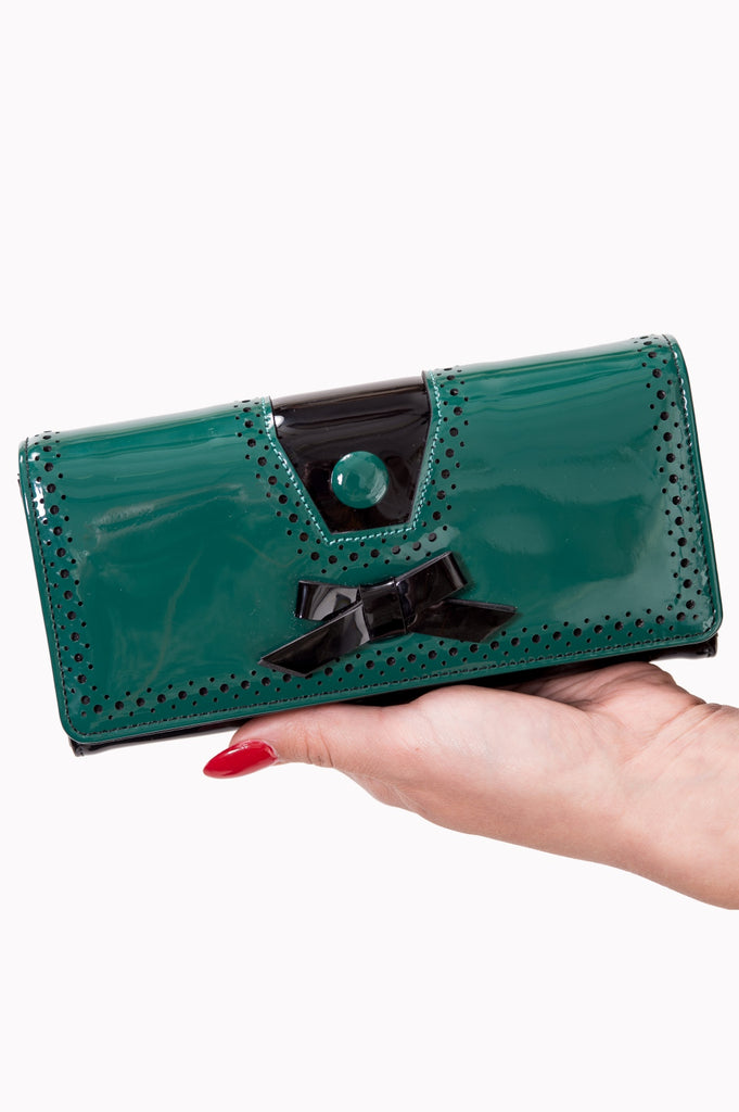 Banned Clothing Rosemary's Wallet Green/Blk|Poisonkandyklothing