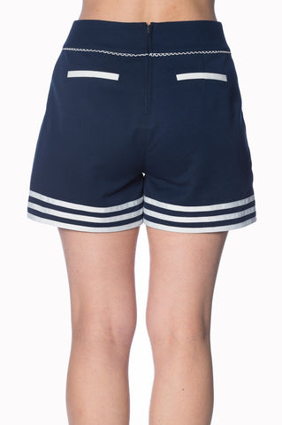 Banned Set Sail Short Navy|Poisonkandyklothing
